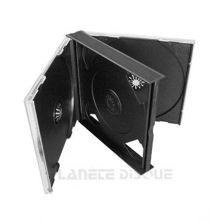 10 CD doosjes dik voor 3 CDs met zwarte trays