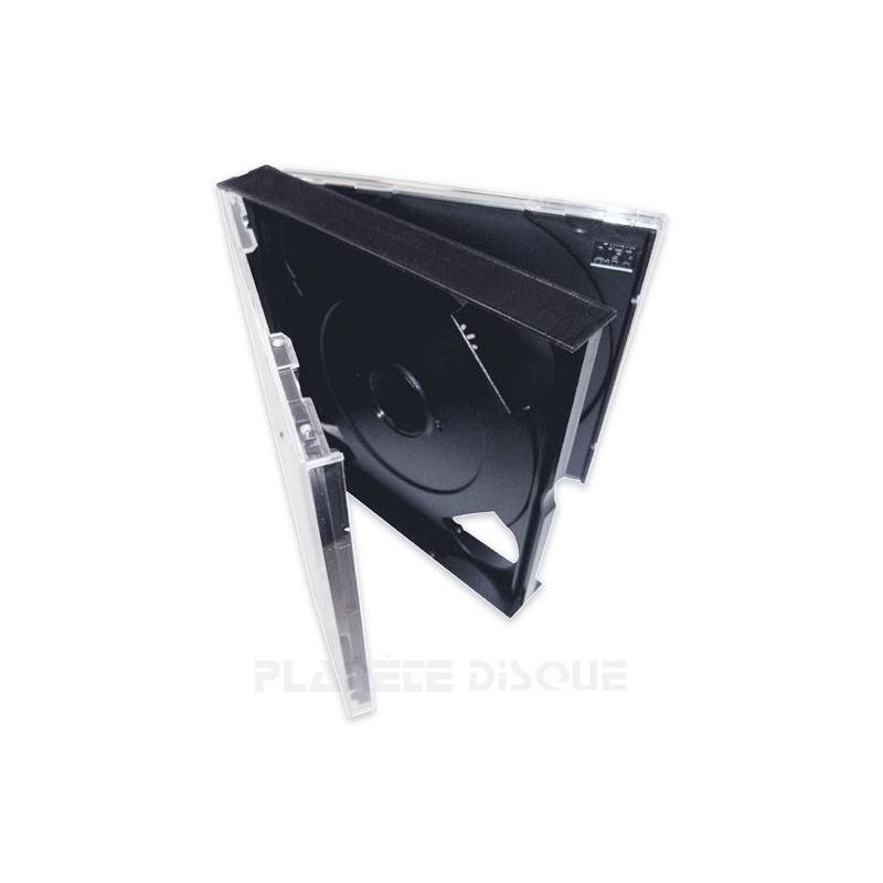 Boîtier épais pour 2 CDs avec plateaux noirs
