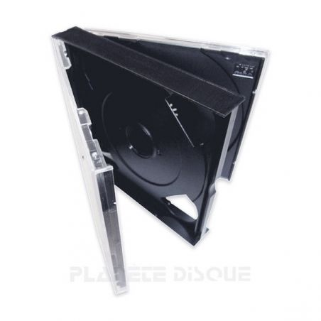 CD doosje dik voor 2 CDs met zwarte trays