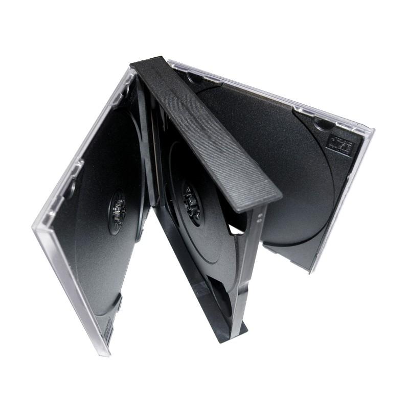 10 CD doosjes dik voor 4 CDs met zwarte trays