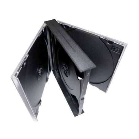 10 Boîtiers épais pour 4 CDs avec plateaux noirs