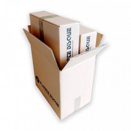 Set van 3 kartonnen dozen voor 40 LPs - met opdruk Planète Disque