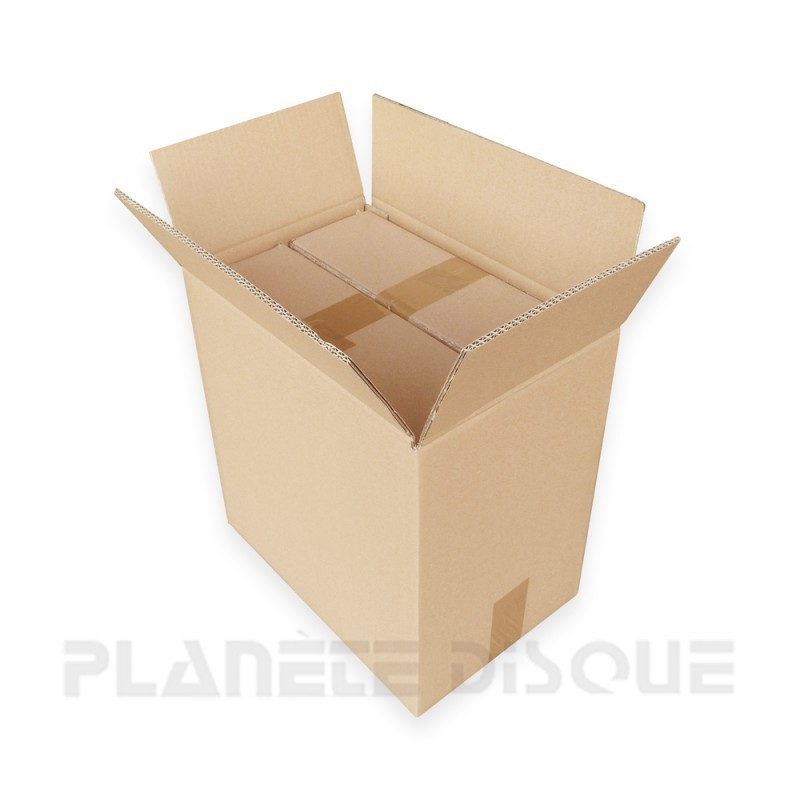 Set van 3 kartonnen dozen voor 40 LPs zonder opdruk