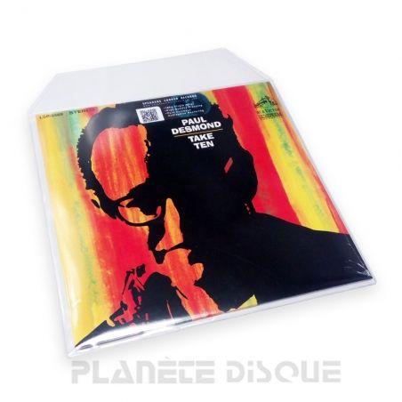 25 LP plastic platen hoezen vinyl PVC 0,18 mm met klep