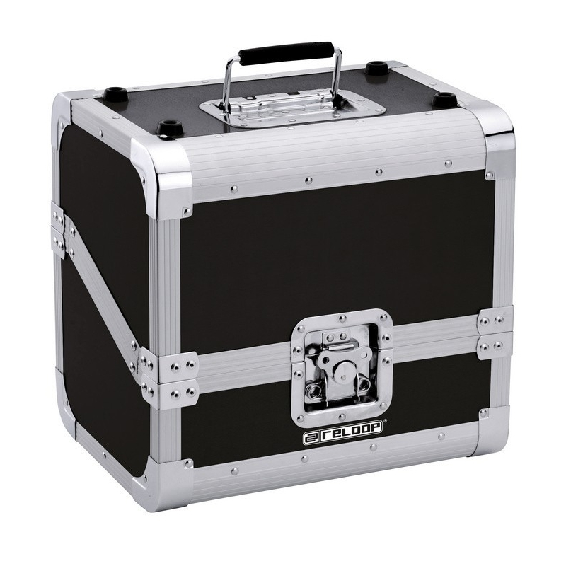 Reloop valise aluminium noir pour 50 disques vinyles