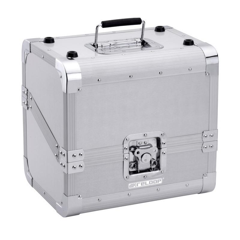 Reloop flightcase koffer aluminium voor LPs zilver