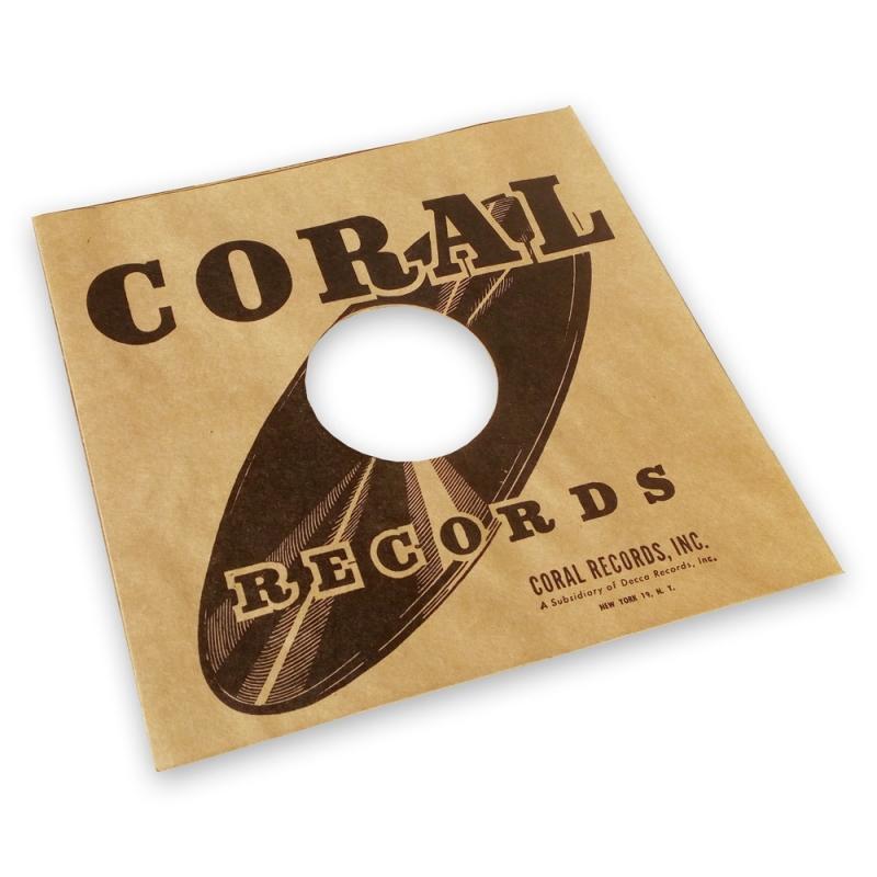 Pochette papier imitation 78T Coral