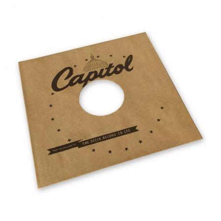Pochette papier imitation 78T Capitol kraft