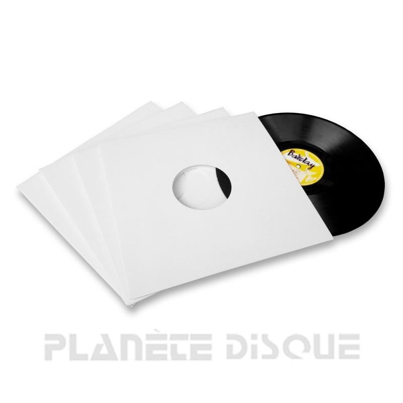 25 Platenhoezen wit karton met venster 25 cm / 10 inch