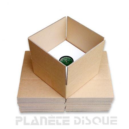 15 cartons double cannelure kraft expédition 1-30 78T / 25 CM