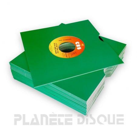 25 Single hoezen groen karton met venster