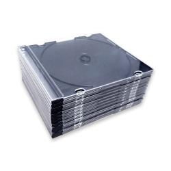 25 Boîtiers CD Slim fond noir