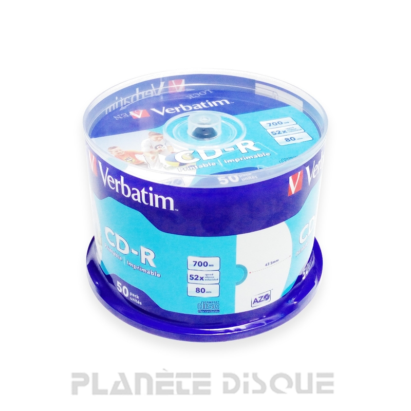 50X CD-R 700Mo 80Min Verbatim Imprimable