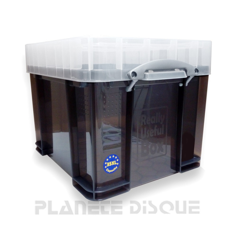 Really Useful Box 100 disques vinyles 33T transparent smoked