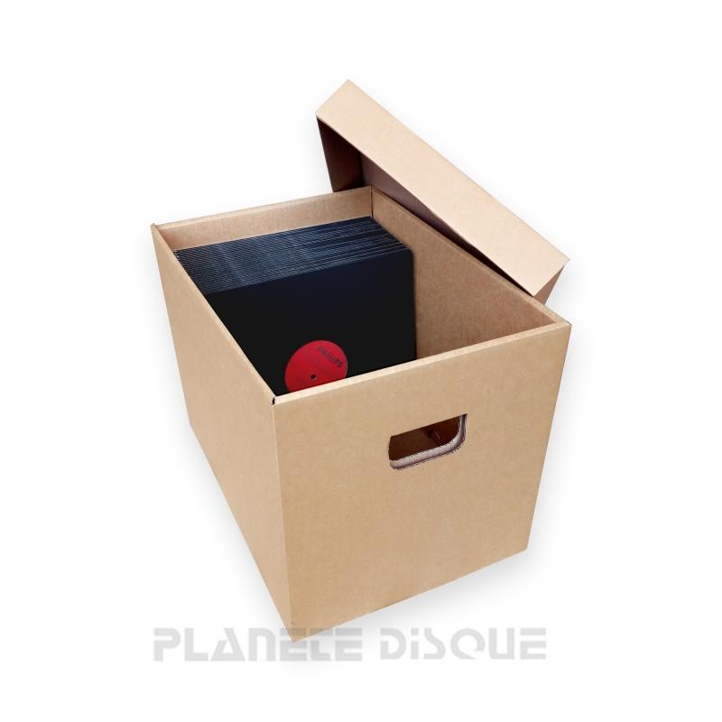 Boîte de rangement en carton pour disques 78T / 25CM