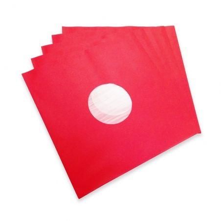 10 Sous-pochettes rouges doublées vinyle 33T Deluxe