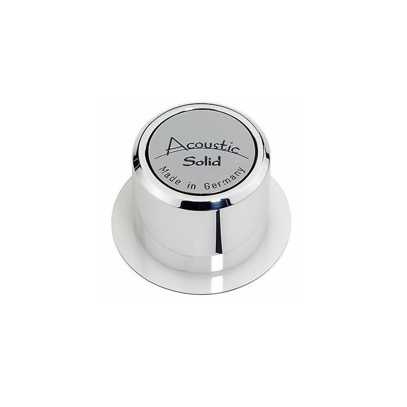 Centreur / adaptateur Acoustic Solid en aluminium poli pour singles 45T