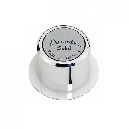 Acoustic Solid gepoleerde luxe aluminium single adapter