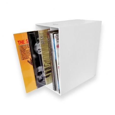 LP Box caisse de rangement pour disques vinyles blanc