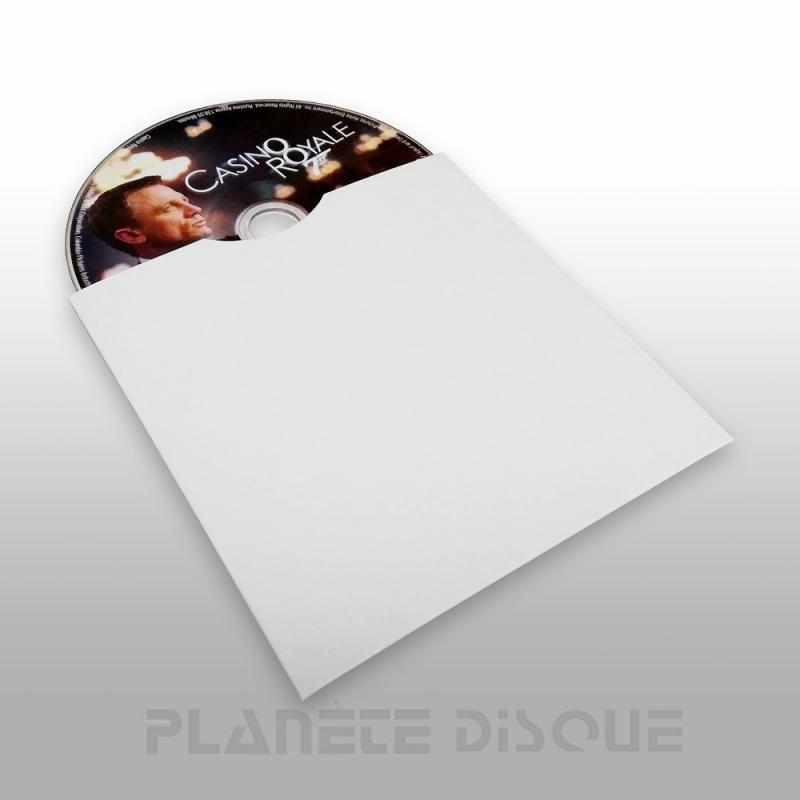 25 CD hoezen wit karton