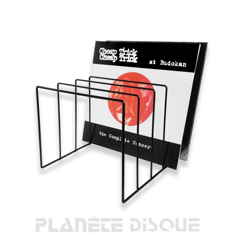 Porte disques vinyles support en métal noir