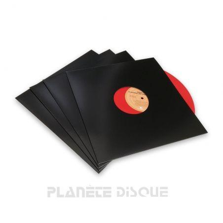 10 LP platenhoezen Discobag zwart karton met venster