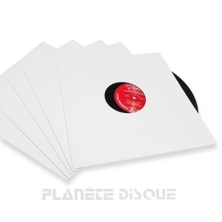 10 LP platenhoezen Discobag wit karton met venster