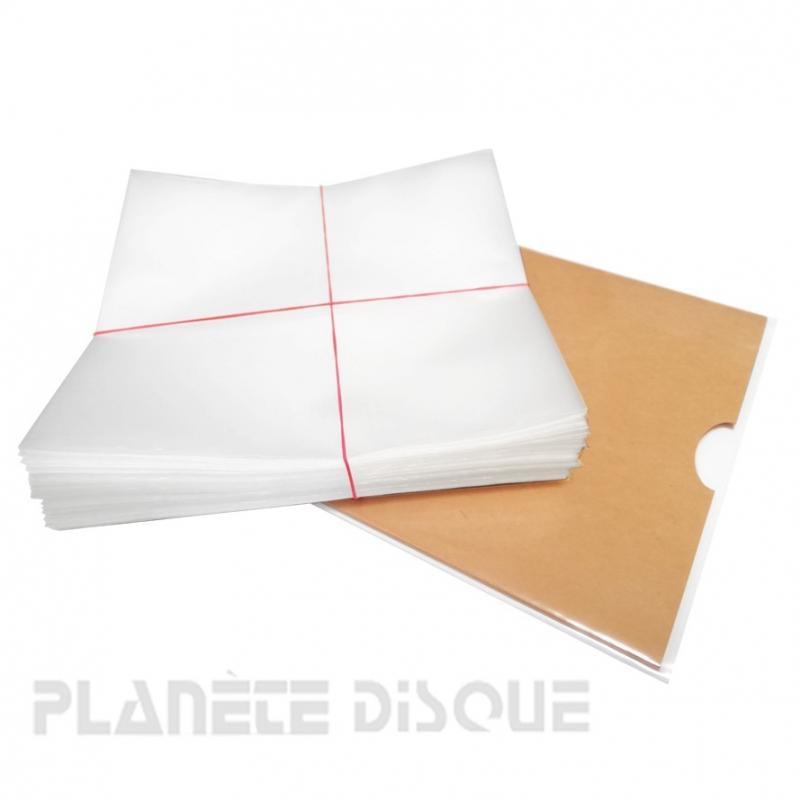 100 Pochettes protection vinyle 45T 100 microns PE