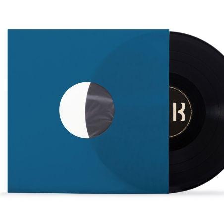 10 Deluxe LP binnen hoezen met kunststof voering blauw