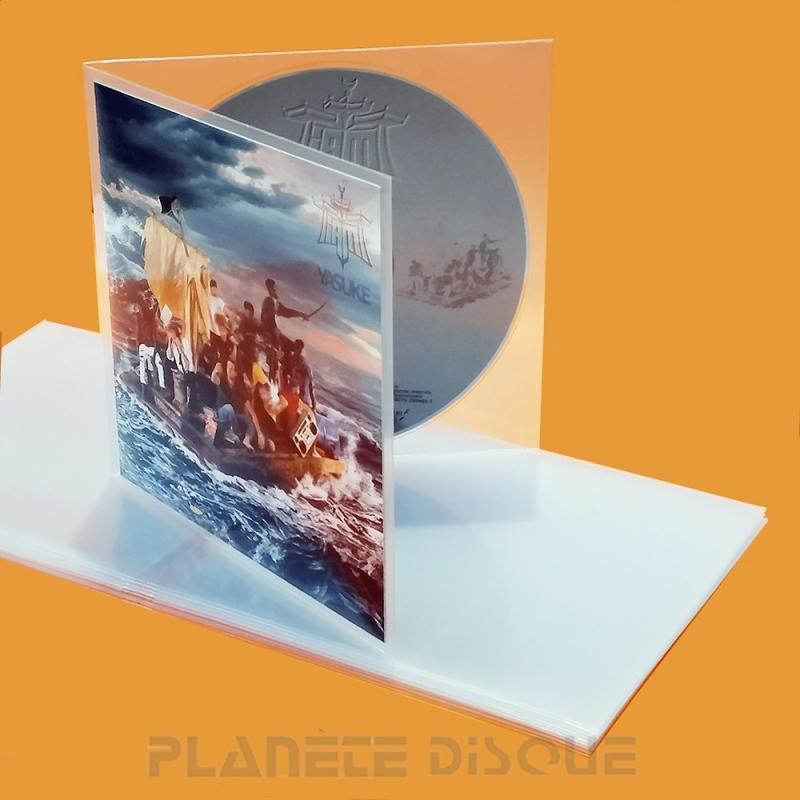 100 Pochettes protection boîtier CD PE