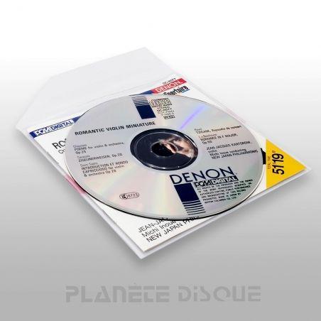 50 Pochettes CD & livret PP avec rabat insérable