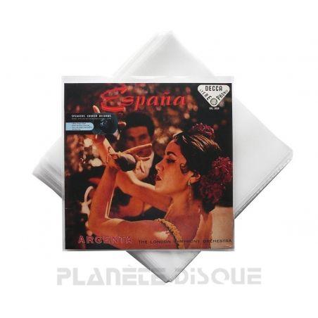 100 LP plastic platen hoezen vinyl standaard 0,10 mm