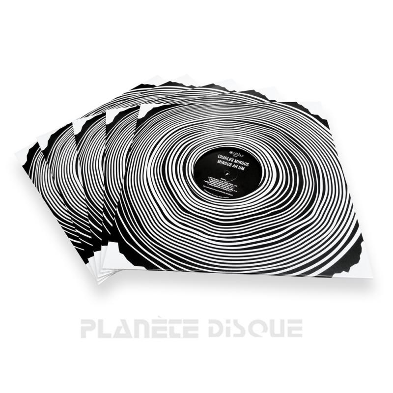 10 LP platenhoezen karton wood met venster