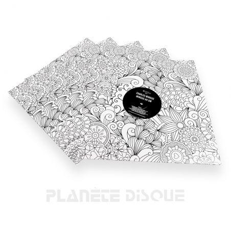 10 LP platenhoezen mandala met venster