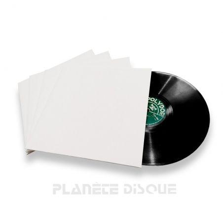 25 Pochettes carton blanches 25 CM / 78T surface mate