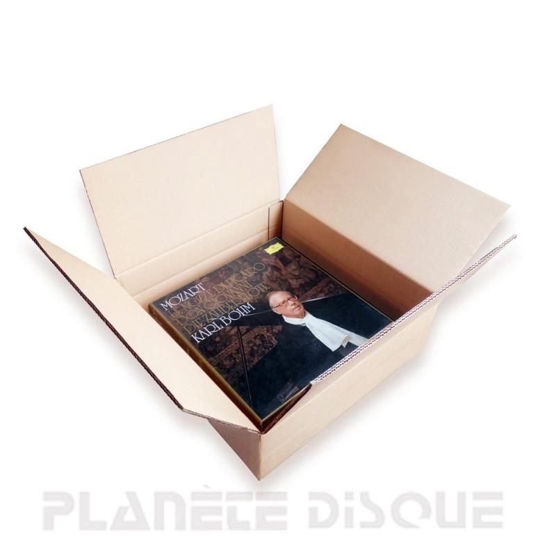 Carton double cannelure expédition coffret vinyle