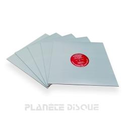 20 Pochettes carton avec trou 33T grises verdâtres