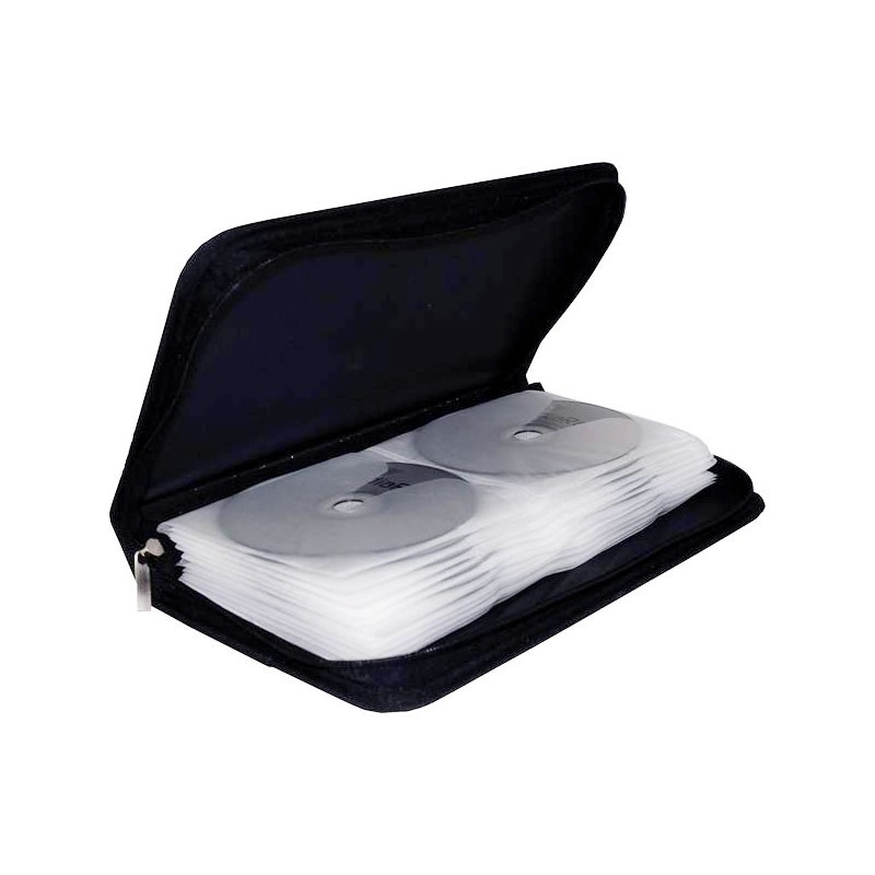 Etui de stockage MediaRange pour 48 CD, nylon, noir