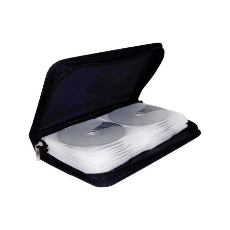 Etui de stockage MediaRange pour 48 CD nylon noir
