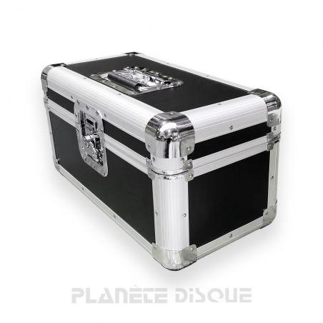Koffer flight case voor 200 singles zwart butterfly