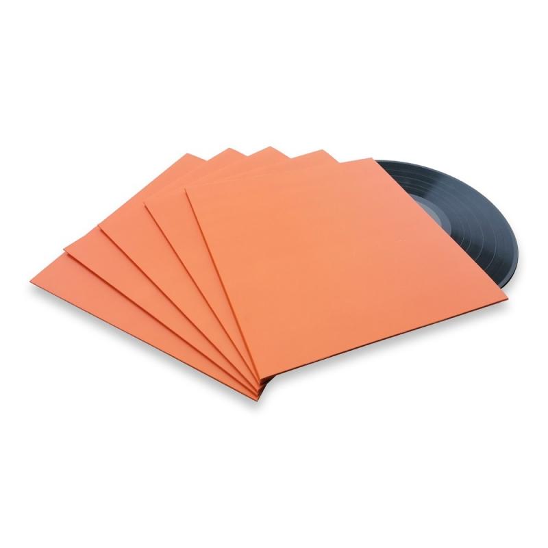 10 LP platenhoezen oranje karton zonder venster