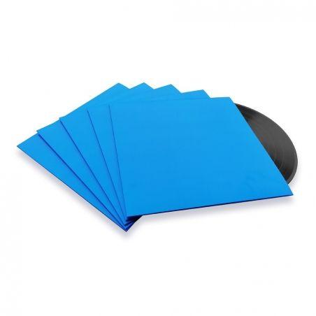10 LP platenhoezen blauw karton zonder venster