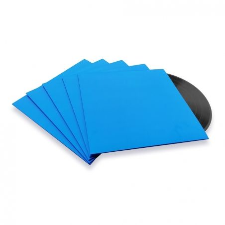 10 Pochettes carton 33T bleues