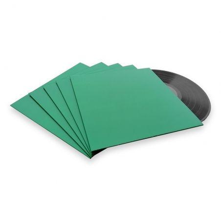 10 LP platenhoezen groen karton zonder venster