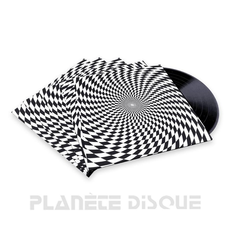 10 Pochettes carton 33T psychédélique sans trou