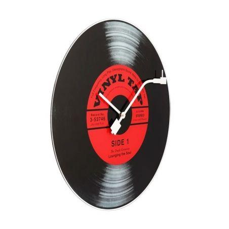 Horloge Tourne Disque en verre Vinyl Tap