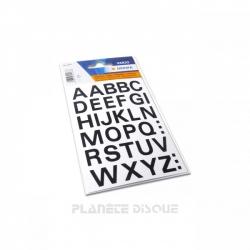 Étiquettes lettres A à Z pour intercalaires d'identification