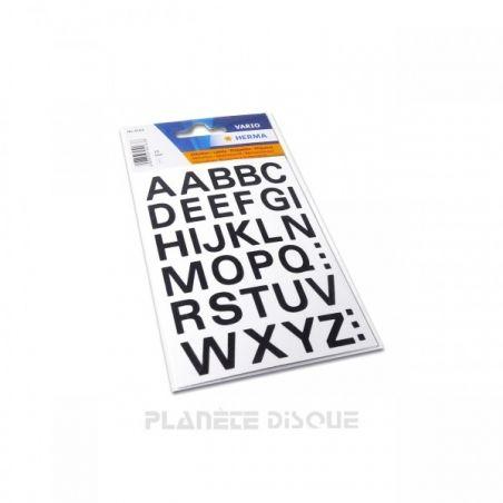 Zelfklevende letters voor dividers